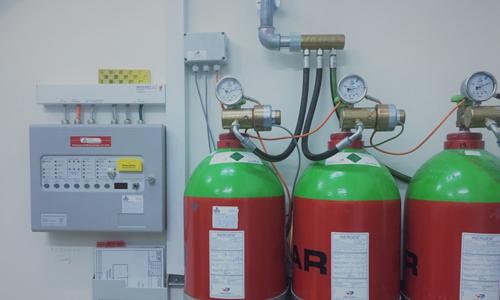Rumslukningsanlæg, ARS-anlæg, Brandsikringsanlæg