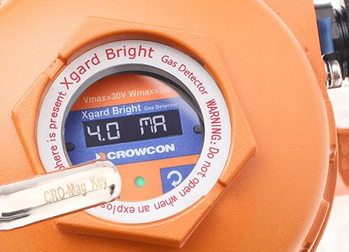 Xgard Bright Gasdetektor betjenes med Magnet