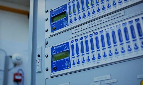 Kontrolpanel til gasdetektering