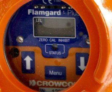 flamgard plus gasdetektor skærm